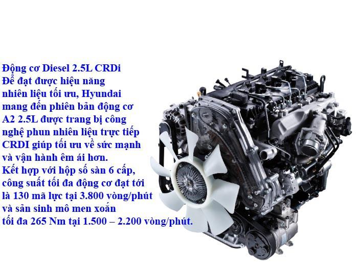 Động cơ xe tải Hyundai H150 thùng bạt