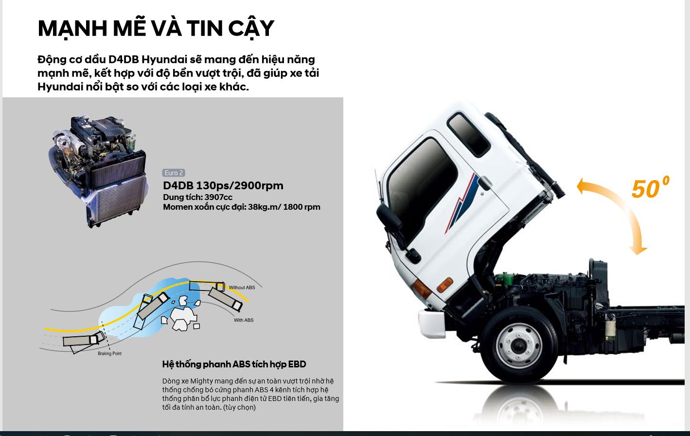 Động cơ xe 8 tấn Hyundai Mighty 2017
