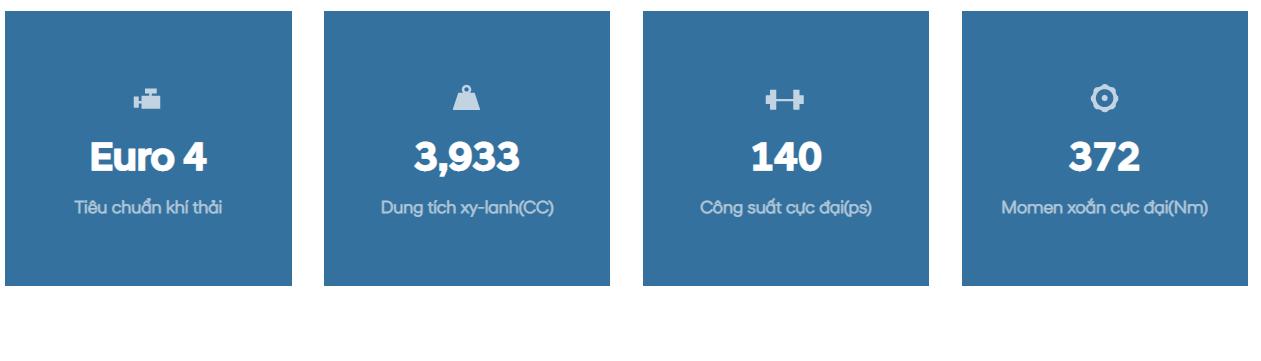 Thông số động cơ xe tải Hyundai 75s