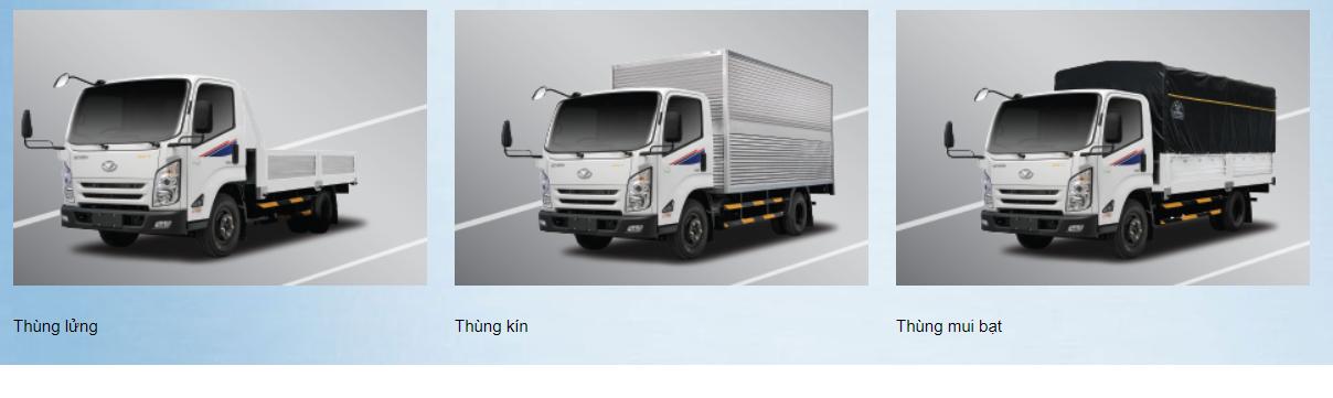 Các loại thùng cơ bản xe tải IZ65 Đô Thành