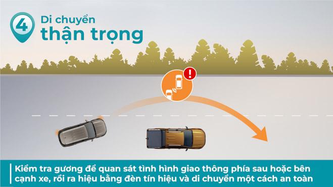 Di chuyển thận trọng trong cao tốc