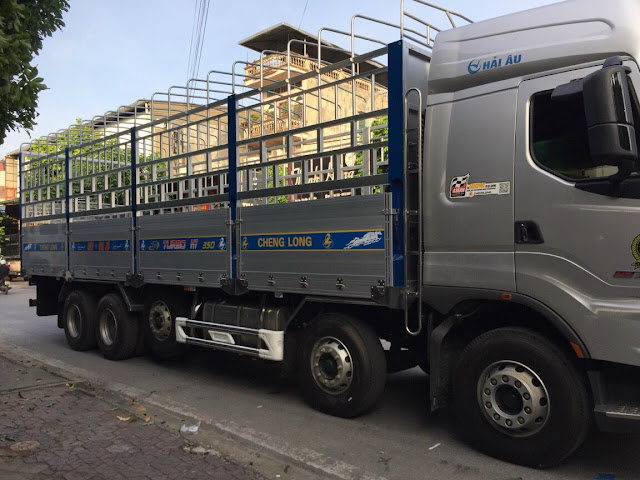 Đóng thùng xe tải Chenglong theo yêu cầu