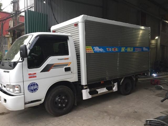 Đóng thùng xe tải Kia theo yêu cầu