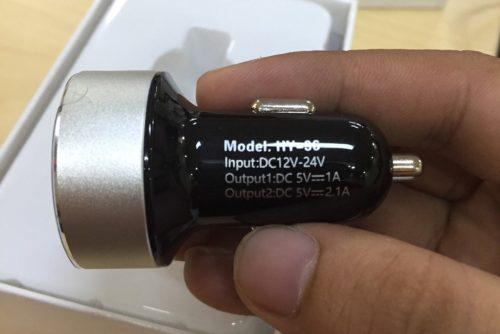 Tẩu Sạc ô tô Chính Hãng Hyundai 2 Cổng USB Đèn Led Hiển Thị