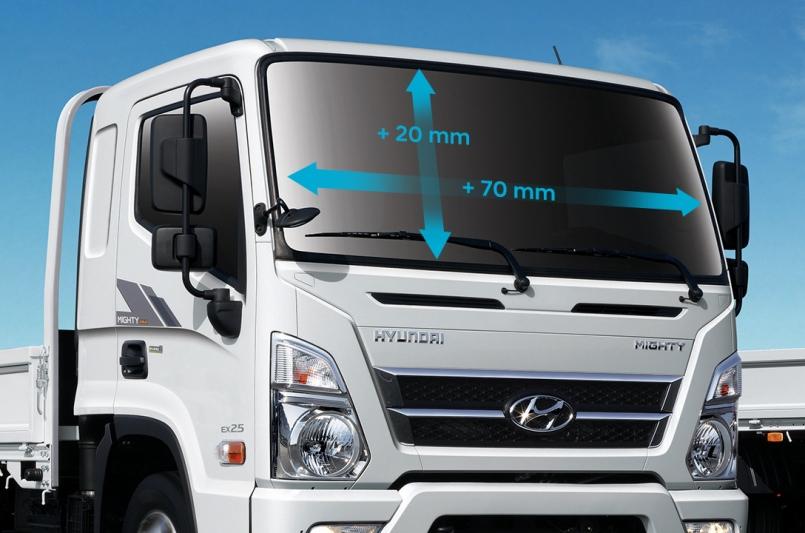 Kính chắn gió xe tải Mighty EX8