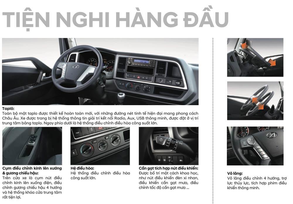 tiện nghi xe hyundai ex6