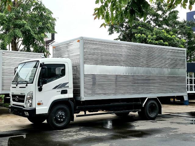 Giá lăn bánh xe tải Hyundai EX8 thùng kín