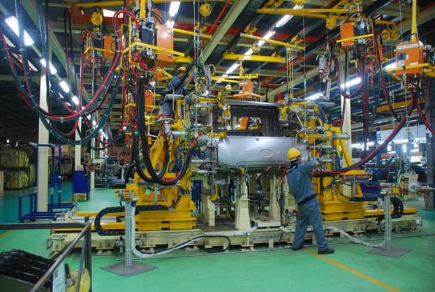 Dây chuyền lắp ráp xe tải dây chuyền lắp ráp xe tải nhà máy Hyundai Thành Công