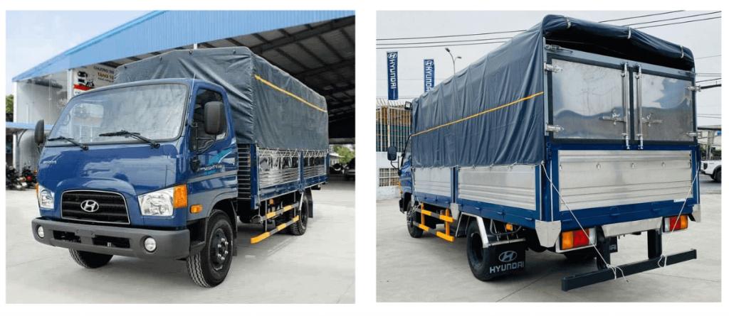 Xe tải 3.5 tấn Hyundai 110SP nâng tải 7 tấn thùng bạt