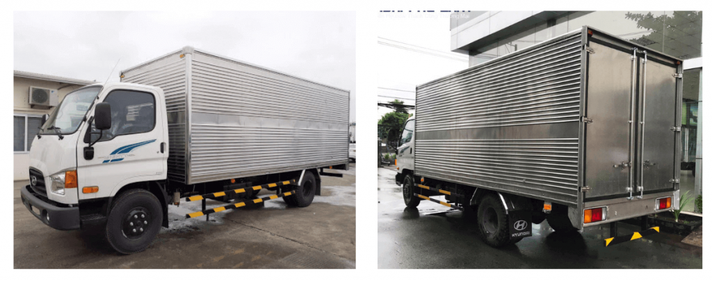 Xe tải 3.5 tấn Hyundai 110SP nâng tải 7 tấn thùng kín inox