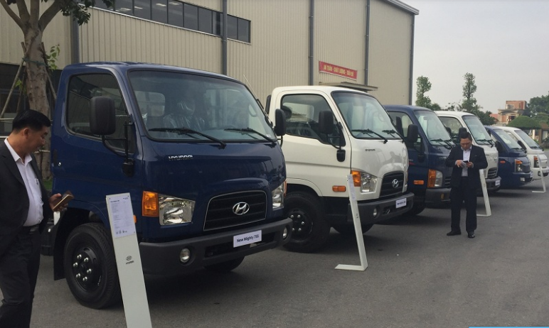 Xe tải 3.5 tấn Hyundai nâng tải