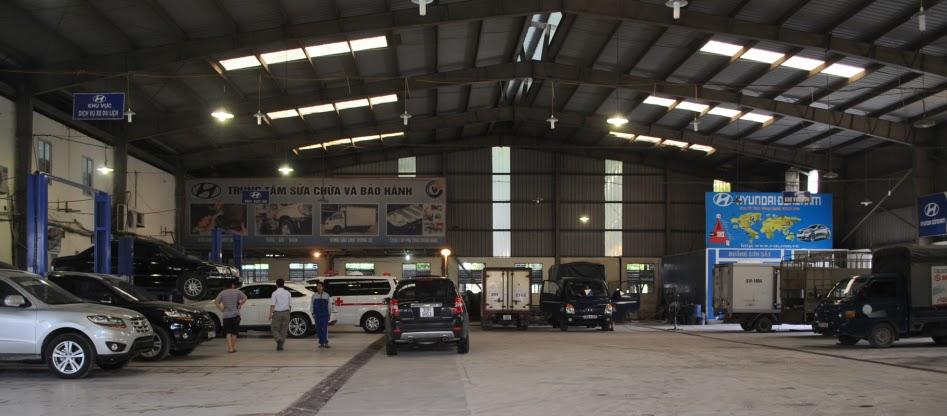 Địa điểm bảo hành xe tải Hyundai