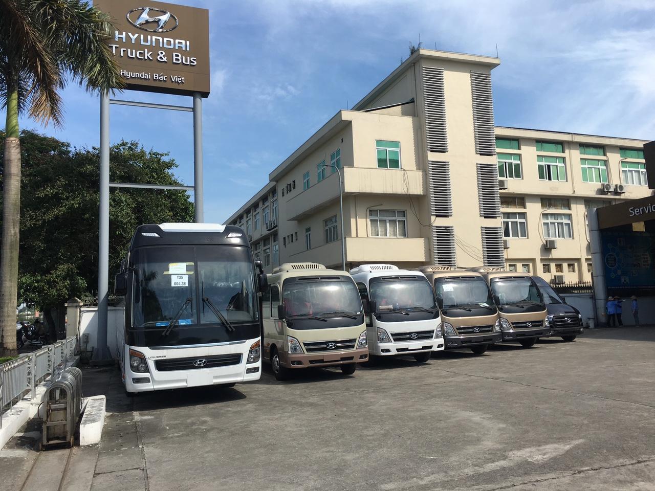 Hyundai Bắc Việt bán xe khách Hyundai