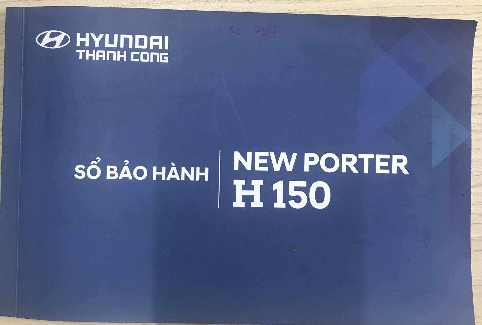 Sổ bảo hành xe tải Hyundai