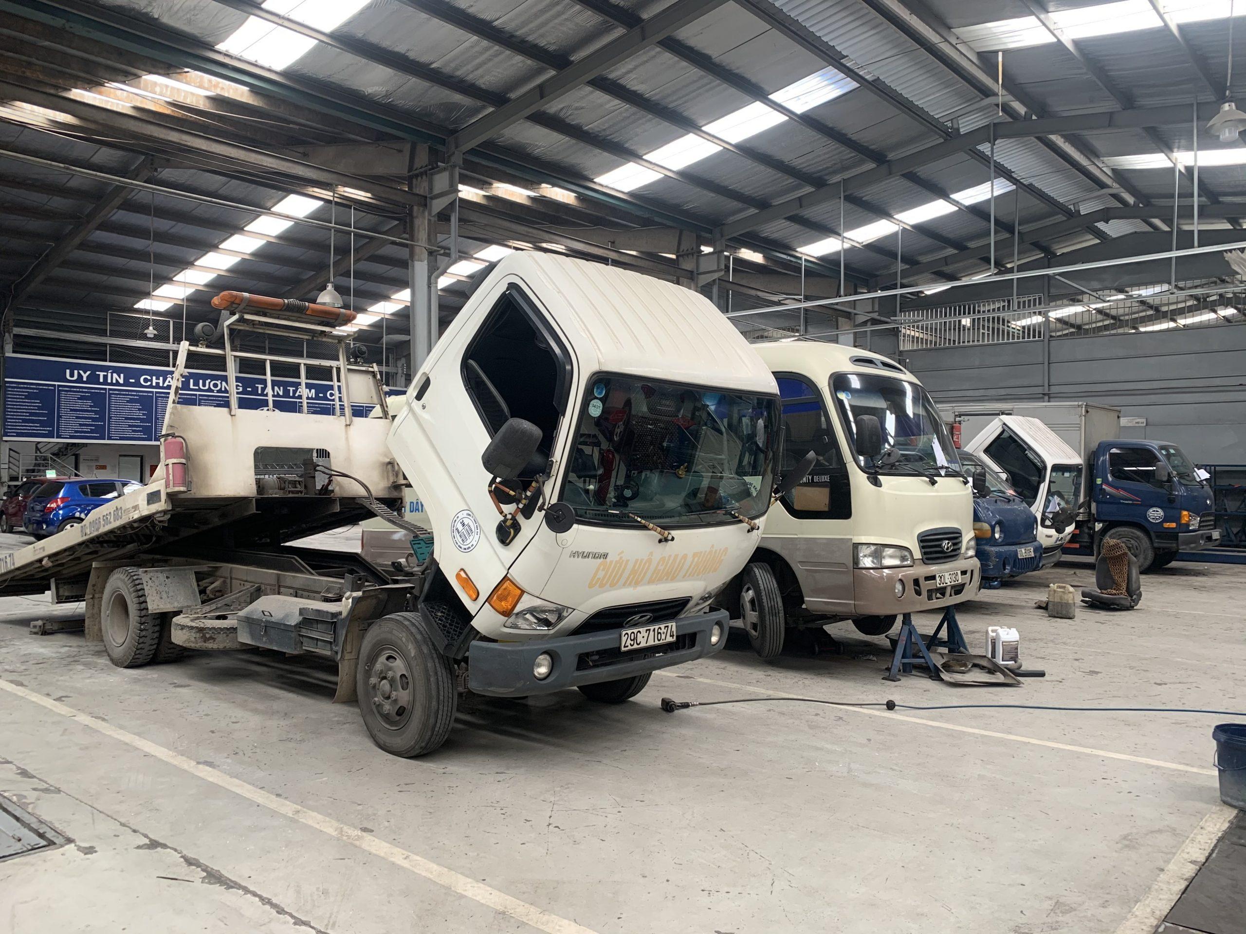 Xưởng dịch vụ sửa chữa xe tải Hyundai
